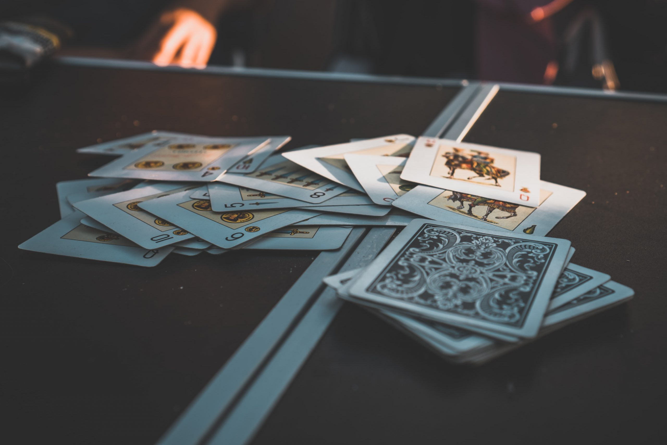 cards on a table